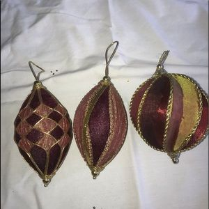 Other - 3 fabric ornaments